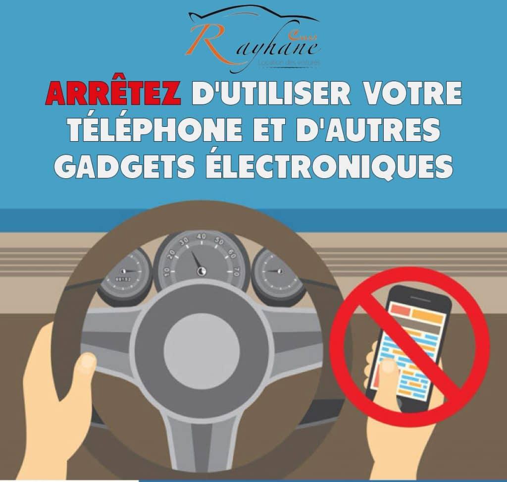 Arrêtez d'utiliser votre téléphone et d'autres gadgets électroniques